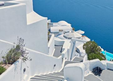 Kykladische Architektur Weiße Häuser ©Katikies Santorini