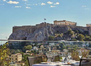 Electra Metropolis Hotel Athen mit Blick zur Akropolis