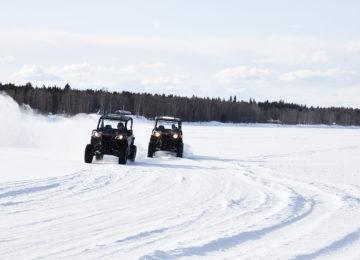 Snowmobiltour Octola Private Wilderness Lodge Finnland Polarkreis