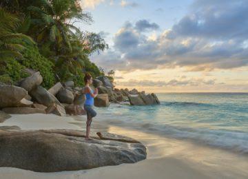Yoga Constance Lemuria Resort Praslin, Seychellen