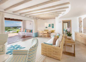 Villa Smeralda mit 5 Schlafzimmern Wohnzimmer©Hotel Romazzino