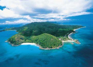 Resort Luftaufnahme Constance Lemuria Resort Praslin, Seychellen
