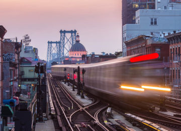 JMZ Train, Williamsburg, Brooklyn