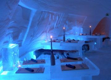 SnowVillage, Icehotel in Lainio, Finnland Lappland