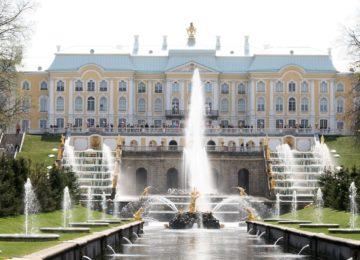 Russland St Petersburg Fontänen