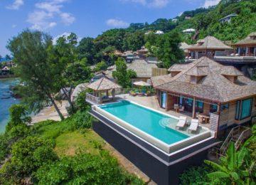 Aerial view Presidential Villa©Hilton Seychelles Northolme Resort & Spa