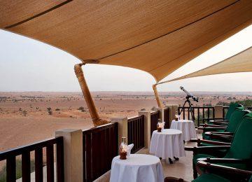 Al Maha, a Luxury Collection Desert Resort _ Spa, Dubai, Bar Terrace-High