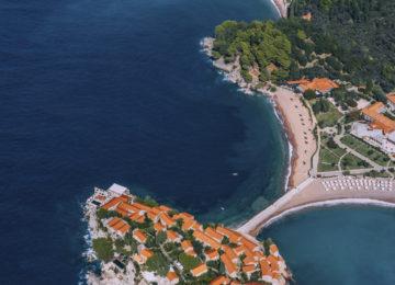 Aman Sveti Stefan, Montenegro – Arial Shot of property