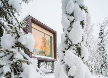 Arctic TreeHouse Hotel Finnland Suite from Outside