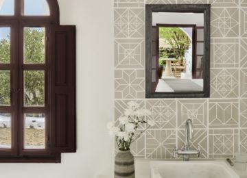 Athenian Suite Badezimmer©Vedema, a Luxury Collection Resort, Santorin