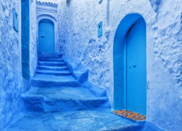 Blue Staircase, Chefchaouen, Morocco, North Africa