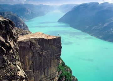 Discover Pulpit Rock on a day trip from the Sola Strand Hotel. Photo © Peer Eide – VisitNorway.com