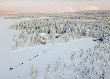 Schwedisch Lappland Winter Northern lights Arctic Wild Fjellborg Lodge