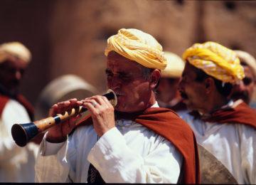 Flötenspieler beim Festival der Volksmusik©Fremdenverkehrsamt Marokko