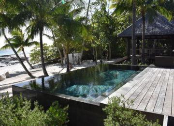 French Polynesia Private Island Nukutepipi Villa Pool