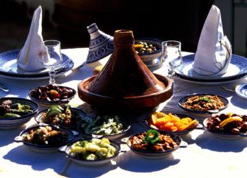 Gedeckter Mittagstisch ©Fremdenverkehrsamt Marokko