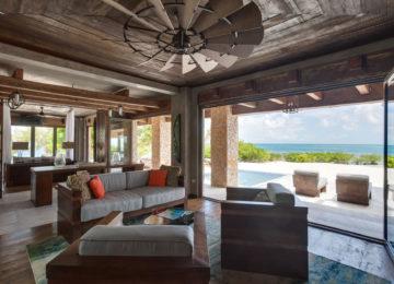 Gladden Private island Belize Livingroom