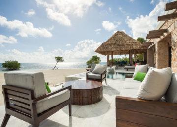 Gladden Private island Belize Terrasse