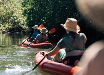 Kajak fahren im Coiba Nationalpark©Islas Secas Resort