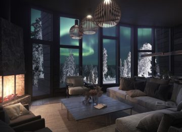 Interior und Design Octola Private Wilderness Lodge Finnland Polarkreis