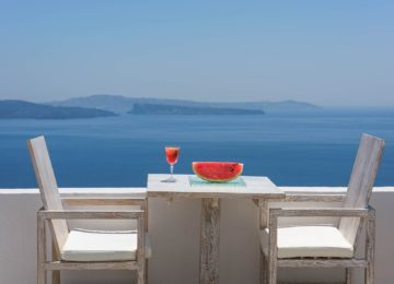 The Ivory Suite Terrasse©Hommage Villa Collection, Santorin, Oia