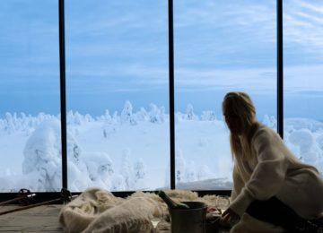 Ruka Peak Boutique Hotel Finnland Lappland, Blick aus dem Zimmer