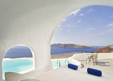 Master Suite Pool mit Meerblick ©Katikies Santorini
