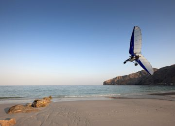 Microlight Flug Musandam © Six Senses Zighy Bay