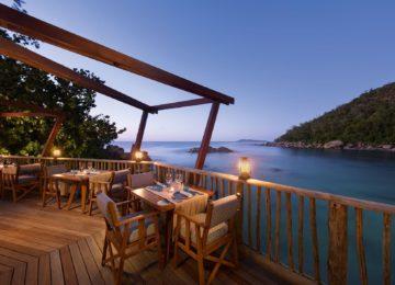 Nest Restaurant Constance Lemuria Resort Praslin, Seychellen