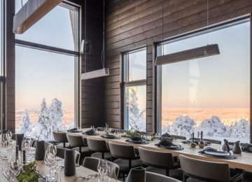 Octola Restaurant Wilderness Private Lodge Finnland Lappland