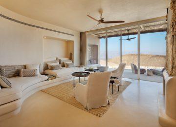 Six Senses Shaharut Panorama_Pool_Villa-living_room