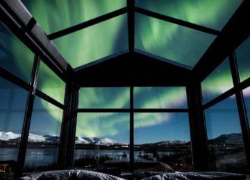 Polarlicht Island Panorama Glass Lodge