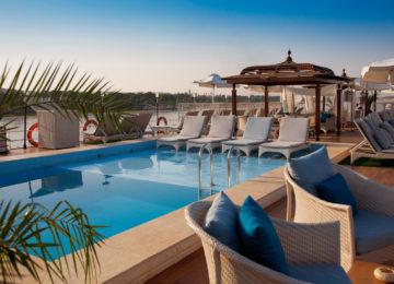 Egypt; Nile River; Sanctuary Sun Boat IV; Pool