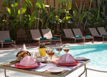 Pool mit Frühstück ©Jardins de la Medina