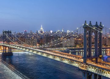 Skyline Manhattan Bridge, Manhattan, NYC