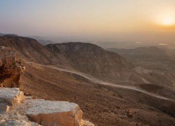Sonnenaufgang über dem Arava Tal Six Senses Shaharut Israel
