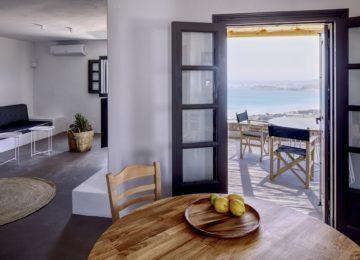 Turquoise 2-Schlafzimmer Villa Meerblick mit privatem Pool©Acron Villas Paros