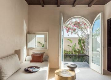 Wohnbereich Tarina Suite©Istoria Hotel, a Member of Design Hotels, Santorin