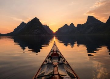 There's plenty to do in Lofoten. Why not rent a kayak and explore the fjord Photo © Tomasz Furmanek – VisitNorway.com