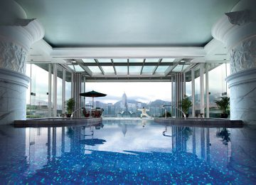 Victoria Harbour View from The Pool © The Peninsula Hong Kong