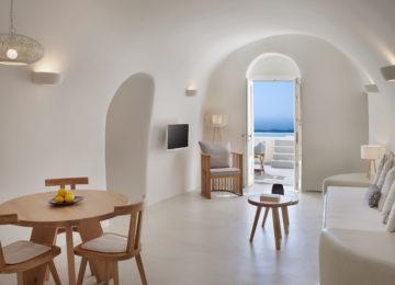 Villa Anastasia Wohnbereich©Hommage Villa Collection, Santorin, Firostefani