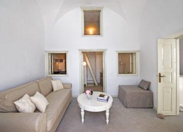 Villa Calliope Wohnbereich©Hommage Villa Collection, Santorin, Oia