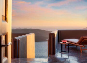 Villa Dusk Terrasse©Hommage Villa Collection, Santorin, Fira