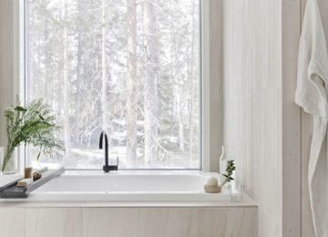 Artic TreeHouse Hotel Finnland Lappland©Bathroom