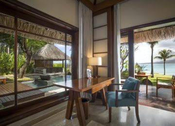 Villa mit Pool und Meerblick ©Shanti Maurice