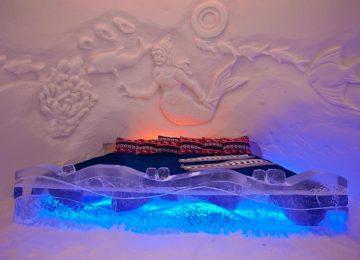ead waaaay north in Norway for the unforgettable experience of sleeping in an igloo. Photo © Snowhotel Kirkenes