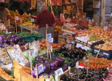 Gemüsemarkt in Sizilien