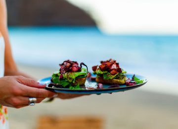 Gourmet am Strand Speisen ,Select Luxury Travel,Costa Rica