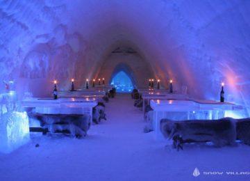 Restaurant SnowVillage, Icehotel in Lainio, Finnland Lappland