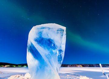Ice Hotel Kiruna Schweden Lappland -scultpure-northern-lights-icehotel by Asas Kliger